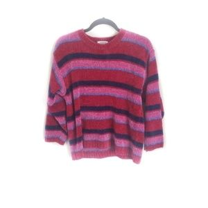 Vintage Colorful Bold Striped Sweater